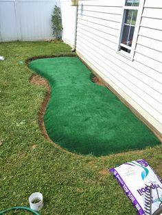 Little Bit Funky: How to make a backyard putting green! {DIY putting green}