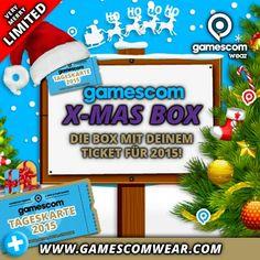 Get your gamescom X-MAS BOX! Sei schnell - die X-MAS BOX ist nur in limitierter Stückzahl erhältlich! #HOHOHO