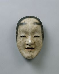 Noh mask, Ko-omote (a lovable girl),one of 47 Noh masks formerly owned by Konparu Sōke (the leading family of the Konparu school), Wood, colored Muromachi-Meiji period/15-19th century Originally owned by Konparu-za Tokyo National Museum.