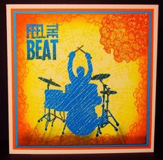 Visible Image stamps - Drummer - Feel The Beat - Pauline Butcher