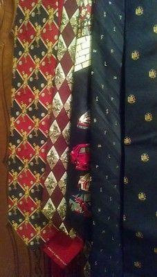 Lot 20+ Vintage Silk Polyester Novelty Ties Sports $$ Equestrian LLBB Sigma Disney Coca Cola