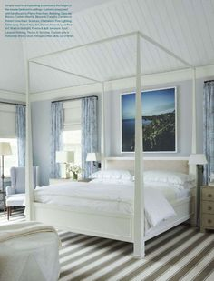 Coastal bedroom byTimothy Whealon for a Long Island Home.
