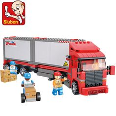 Sluban B0338 Double container Freight Car DIY Model Building Blocks Bricks Toys Gift Compatible with Lego