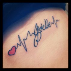 I want a tattoo like this of my Maya's heart beat ❤️