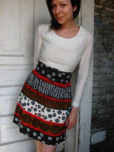 vintage 60s MOD scoop neck belted summer SCOOTER by aNewLifeForYou, $46.00