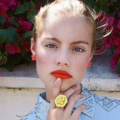 Photographer: Marcie Cobbaert @MarcieCobbaert Model: Rachel @lamodels  #makeup #makeupartist #fashion #beauty #beautyeditorial #losangeles #california #photography #orange #orangelips #lipstick #model #lamodels #instaglam