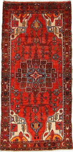Red 3' 10 x 8' 2 Hamedan Rug | Persian Rugs | RugsOnTime