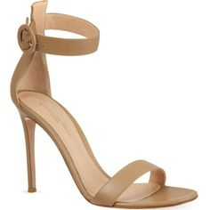 GIANVITO ROSSI Como heeled sandals ($790) ❤ liked on Polyvore featuring shoes, sandals, heels, chaussures, nude, heeled sandals, gianvito rossi, nude shoes, gianvito rossi sandals and nude leather shoes