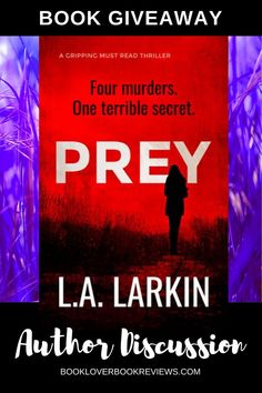Author L. Larkin discusses her new adventure novel PREY and how the global pandemic has affected this book launch and her writing. Plus, thanks to Clan Destine Press and Bloodhound Books we have 2 ebook copies to worldwide. Book Club Books, Book Lists, Good Books, My Books, Crime Fiction, Fiction Books, Love Book, This Book, Thriller Novels