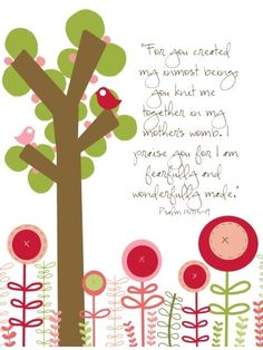 Fearfully and Wonderfully Made 8 by 10 print by EmilyBurgerDesigns, $20.00