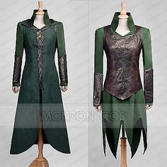 The Hobbit Desolation of Smaug Tauriel Cosplay Costume Any Size Custom-Made in Clothing, Shoes & Accessories,Costumes, Reenactment, Theater,Costumes | eBay
