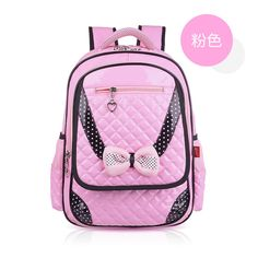 Hello Kitty High Quality PU Leather Princess School Backpacks Korean Style Girls School Bags Comfortable Soft Backpack 4 Colors