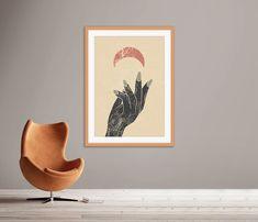 Terracotta Green Prints, Printable Hands Art #midcentury #midcenturymodern #printable #printables #wallart #prints #art #midcenturyposter #downloadable #diyart #minimalist #abstract #abstractart #minimalistart #handsprint #halfmoonprint #moonprint #halfmoon #womanart Frame Wall Decor, Framed Wall Art, Framed Art Prints, Wall Art Decor, Printable Art, Printables, Moon Print, Hand Art, Green Print