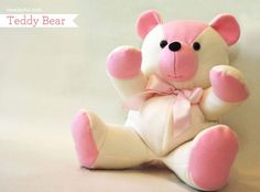 teddy bear Use for memory bear pattern and directions. Sewing Toys, Baby Sewing, Free Sewing, Sewing Crafts, Sewing Projects, Diy Projects, Teddy Bear Patterns Free, Teddy Bear Sewing Pattern, Softies