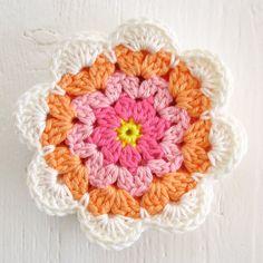 Watch The Video Splendid Crochet a Puff Flower Ideas. Phenomenal Crochet a Puff Flower Ideas. Crochet Poppy Free Pattern, Crochet Mandala Pattern, Crochet Flower Patterns, Crochet Diagram, Crochet Squares, Crochet Home, Love Crochet, Irish Crochet, Beautiful Crochet