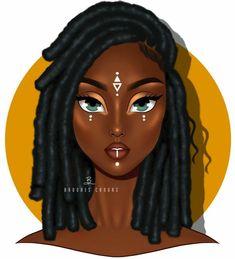 Likes, 42 Comments - Color Noir Black Love Art, Black Girl Art, My Black Is Beautiful, Black Girl Magic, Art Girl, Black Art Painting, Black Artwork, Black Girl Cartoon, Cartoon Girls