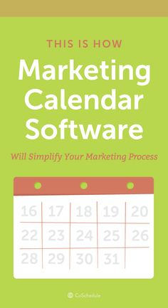 Need help keeping your team organized? We can help! http://coschedule.com/marketing-calendar-software?utm_campaign=coschedule&utm_source=pinterest&utm_medium=CoSchedule&utm_content=How%20Marketing%20Calendar%20Software%20Will%20Simplify%20Your%20Marketing%20Process