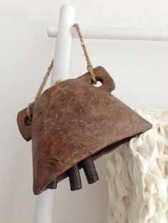 Carved Wooden Cow Bell