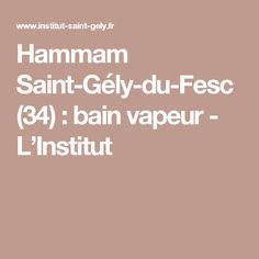 Hammam Saint-Gély-du-Fesc (34) : bain vapeur - L'Institut