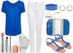 Blue and White Summer