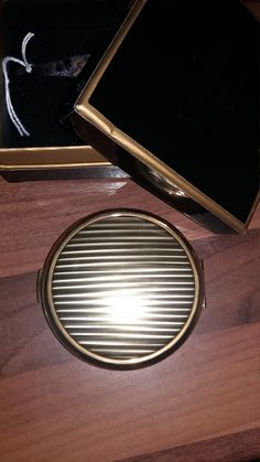 stunning looking gold stratton compact by suffolkoddsandends on Etsy