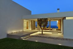 Indoor/outdoor living is a daily event at this home on a Greek Island