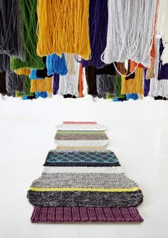 amazing knitted large rugs by; patricia urquiola