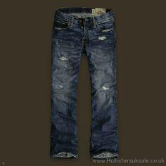 Hollister Mens Destroyed Jeans
