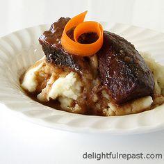 Delightful Repast: Short Ribs Braised in Wine - Comfort Food Classic