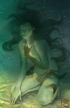 fantasy, art, and mermaid image Character Inspiration, Character Art, Character Design, Mermaids And Mermen, Fantasy Mermaids, Arte Horror, Mermaid Art, Scary Mermaid, Octopus Mermaid
