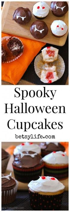Halloween cupcakes. Spooky inside and out!
