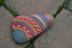 Hand Painted Stones from the Shores of Lake by HeartfireHenna