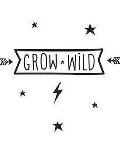 Muursticker Grow Wild - A Little Lovely Company - DE GELE FLAMINGO