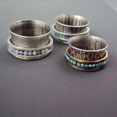 Opal Spinner Ring by danaevansstudio on Etsy, $165.00