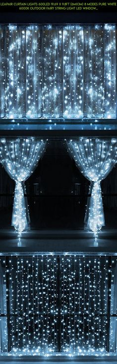 Leapair Curtain Lights 600LED 19.69 x 9.8Ft (6MX3M) 8 Modes Pure White 6000K Outdoor Fairy String Light Led Window Curtain Light for Christmas Xmas Wedding Party Home Decoration with Memory Function #decor #parts #technology #gadgets #kit #camera #products #shopping #fpv #drone #outdoor #tech #plans #india #racing