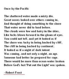 Once by the Pacific by Robert Frost