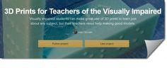 ❝ Impresión 3D para estudiantes con discapacidad visual [VÍDEO] ❞ ↪ Vía: Entretenimiento y Tecnología en proZesa