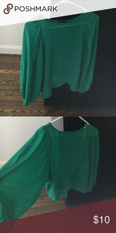 Quarter sleeve blouse Green quarter sleeve blouse Tops Blouses
