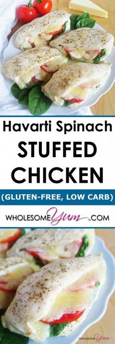 Havarti Spinach Stuffed Chicken Breast (Low Carb, Gluten-free)