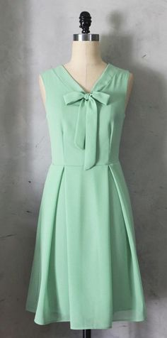a pretty little mint bow dress