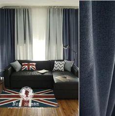 北欧简约现代棉麻风格窗帘遮光布定制客厅卧室高档纯色窗帘-淘宝网