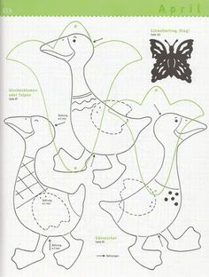 Fotó: Spring Crafts, Paper Piecing, Templates, Album, Quilts, Puppet, Illustration, Scrappy Quilts, Hens
