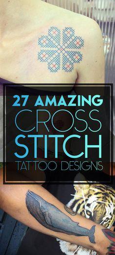 Cross Stitch Tattoo Designs   TattooBlend