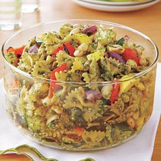 Grilled Vegetable Pesto Pasta Salad: This recipe is perfect for summer potlucks and it works great as a side dish alongside grilled chicken.