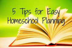 5 tips for stress free homeschool planning