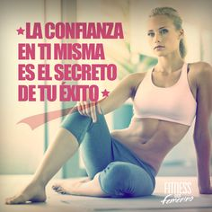 La confianza en ti misma es el secreto de tú éxito. Fitness en femenino. Pilates Video, Motivational Phrases, Self Awareness, Running Workouts, Gym Time, Herbalife, Workout Programs, Fitspiration, Leadership