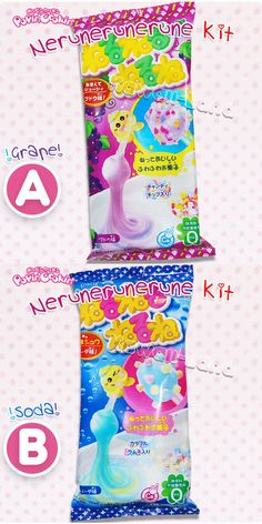 """ねるねるねるね  Nerunerunerune  """"kneadin' kneadin' kneading""""  Popin' Cookin! Nerunerunerune DIY kit Bizarre squishy DIY Japanese candy! ~~Kawaii ~~ <3   ~Shirley Succubus"""