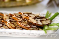"""Woodland Party.  crackers spread slivered almond """"pine cones"""""""