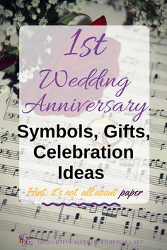 Wondering how to celebrate your first wedding anniversary? Gen an inspiration - build your gift idea around the Paper Wedding symbols (just saying - it's not all about paper...)