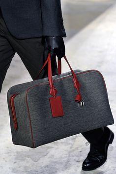 Hermès craftsmanship men's bag.